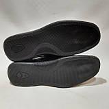 Мужские кожаные туфли р. 46 Walker (Большие размеры) Черные, фото 8