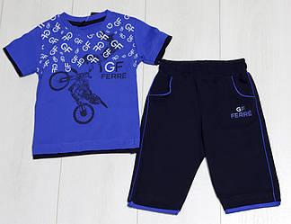 Комплект летний для мальчика (футболка короткий рукав+шорты) (размер 104)