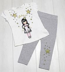 Комплект летний для девочки футболка короткий рукав +лосины,Breeze (размер 110)
