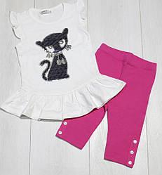 Комплект летний для девочки,(туника без рукавов+бриджи),Breeze (размер 104)
