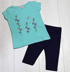 Комплект летний для девочки (футболка короткий рукав+бриджи), Paty Kids (размер 2(92))