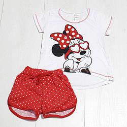 Комплект летний для девочки футболка короткий рукав +шорты (Лана) Лиза Текс (размер 128-134)