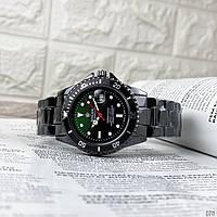 Часы наручные мужские Rolex Submariner 6478 Black-Black-Green Часы Ролекс кварцевые