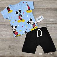 Дитячий трикотажний костюм для хлопчика з шортами Mickey 6міс-2 роки, колір уточнюйте при замовленні, фото 1