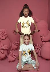 Пижама детская для девочки (футболка короткий рукав+капри), Donella (размер 2/3)