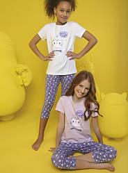 Комплект для девочки (футболка короткий рукав+капри) Donella (размер 2/3)