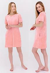 Платье женское с коротким рукавом, бархатный велюр,Milana (размер L)