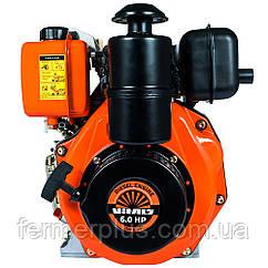 Двигатель дизельный Vitals DM 6.0s  (6,0 л.с., ручной старт, сьем. цилиндр, шлиц Ø25мм, L=35,5мм)