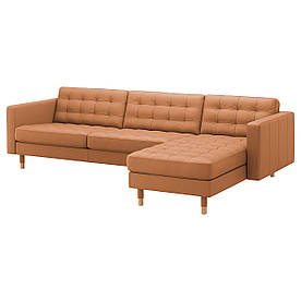 IKEA Диван кожаный LANDSKRONA (ИКЕА ЛАНДСКРУНА) (492.703.59)
