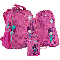 Набор рюкзак + пенал + сумка для обуви Kite 531 French dreams