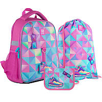Набор рюкзак + пенал + сумка для обуви Kite 555 Cool girl