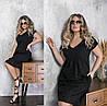 Летнее женское платье черное из прошвы (5 цветов) ТК/-665