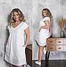 Летнее женское платье белое из прошвы ТК/-665