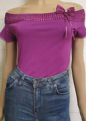Майка-декор женская с открытыми плечами Polkan (размер M)