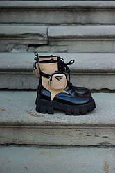Pr@da Boot Beige 1 Pouch Ботинки | обувь