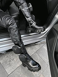 Pouch Pr@da Hight Boot Ботинки | обувь