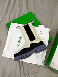 Bottega Veneta Beige Ботинки | обувь
