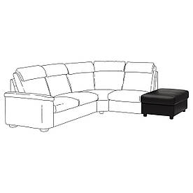 IKEA Пуф с контейнером LIDHULT (ИКЕА ЛИДГУЛЬТ) (504.058.09)