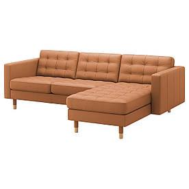 IKEA Диван кожаный LANDSKRONA (ИКЕА ЛАНДСКРУНА) (892.726.48)