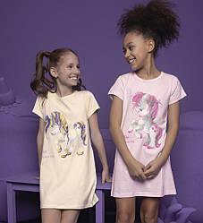 Ночная рубашка для девочки (короткий рукав) Donella (размер 2/3)