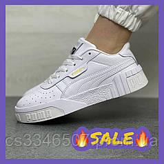 Женские кроссовки Puma Cali Triple White. Женские белые кеды пума кали
