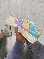 Жіночі кросівки Nike Air Force 1 Shadow Beige Violet