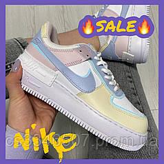 Жіночі кросівки Nike Air Force 1 Shadow Yellow Multi. Кеди Найк Аір Форс