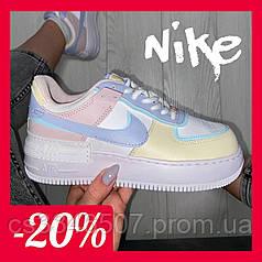 Жіночі кросівки Nike Air Force 1 Shadow Yellow Multi. Кеди Найк Аір Форс 36-40 рр