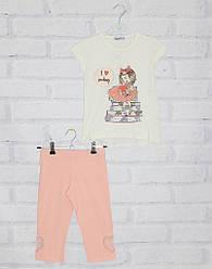 Комплект для девочки футболка с коротким рукавом + велотреки, My prayer (размер 3(98))