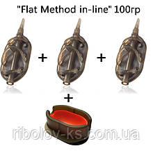 "Набор кормушек R-KS ""Flat Method in-line"" 100гр + пресс форма"