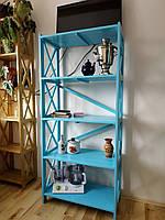 Деревянный стеллаж Прованс для книг 180*80*40 см