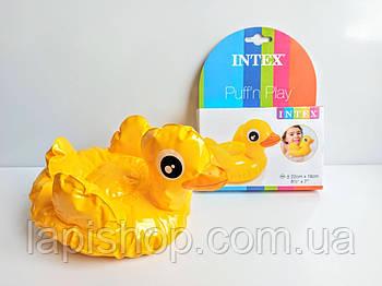 Надувная игрушка Intex  25см от 2-х лет 58590 Уточка