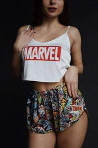 Жіноча піжама марвел marvel шовкова піжама жіноча комплект маєчка шорті