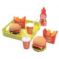 Набор продуктов Ecoiffier Гамбургер с подносом