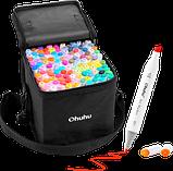 Набор скетч маркеры для рисования 120 штук, США - Ohuhu 120 Colors Dual Tips Alcohol Art Markers Fine & Chisel, фото 2