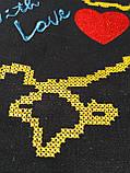 Текстильная сумочка с вышивкой  Шопер 28, фото 2