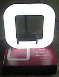 Кільцева LED лампа зі штативом Elite EL-1283 (18 на 18 см), фото 3