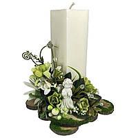 Свічка Великодня декорована 14x14x20 см