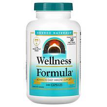 """Комплекс для иммунитета Source Naturals """"Wellness Formula"""" витамины + 25 трав (240 капсул)"""