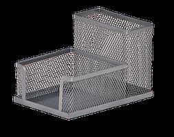 Прибор настольный 100x150x90 мм металлический, Buromax ВМ.6242-24 серебро