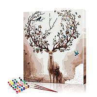 """Картина по номерам ArtSale """"Олениха с олененком"""" PBN0487 размер 40х50 см"""