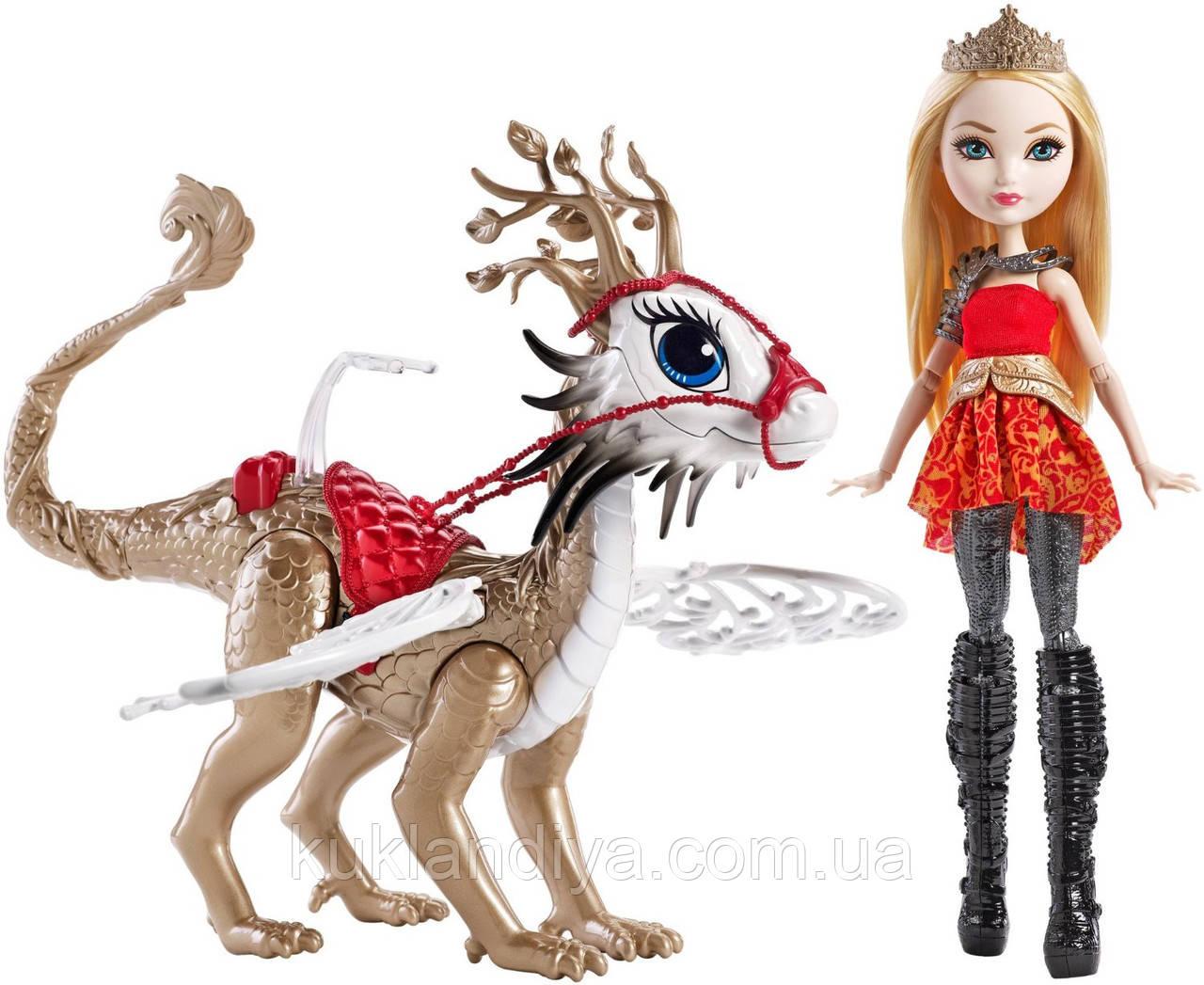 Кукла Эвер Афтер Хай Эппл Вайт Игры Драконов Ever After High Dragon Games Apple White Doll and Braebyrn Dragon