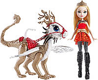 Кукла Эвер Афтер Хай Эппл Вайт Игры Драконов Ever After High Dragon Games Apple White Doll and Braebyrn Dragon