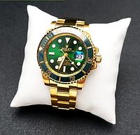 Годинники наручні чоловічі Rolex Submariner AAA Gold-Green Automatic Годинник Ролекс механіка з автопідзаводом