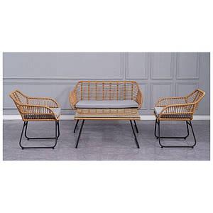 Комплект плетенной мебели Latino два кресла+журнальный столик+софа