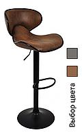 Барный стул со спинкой регулируемый Bonro HB-678 экокожа кресло для кухни барной стойки