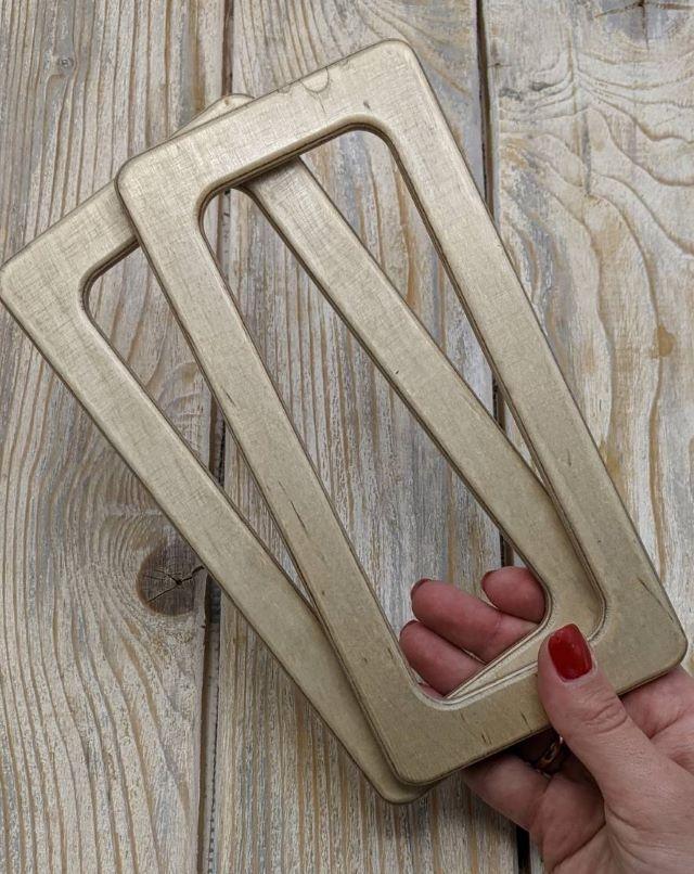 Ручки для сумки прямокутні дерев'яні