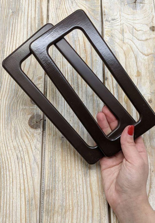 Ручки прямоугольные из дерева для вязаной сумки