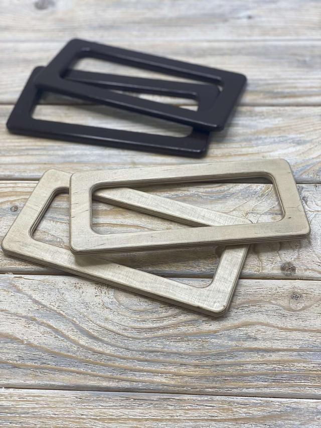 Прямоугольные деревянные ручки для сумок