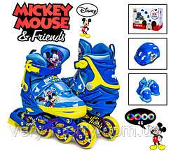 Копмлект роликов Disney Mickey Mouse р34-37 Все колеса светятся